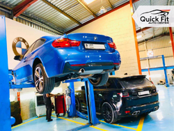 BMW Suspension and Full Inspection going at Quick Fit