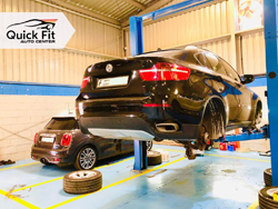 BMW X6 Suspension and Engine Service
