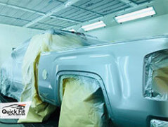 Complete GMC Truck Painting At Quick Fit Auto Center