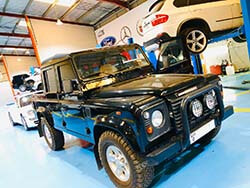 Land Rover Defender Servicing At Quick Fit Auto Center