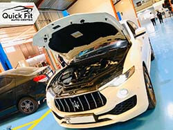 Maserati Levante At Quick Fit For AC And Brakes Service