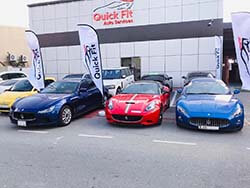 Different Maserati Models And Exotic Cars At Quick Fit For Service