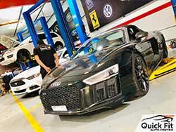 Audi visited Quick Fit for Major Service