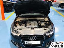 Audi Brakes and Engine Service is going on