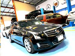 Cadillac is at Quick Fit for General Inspection