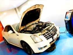 Cadillac Engine Repair is going on at Quick Fit