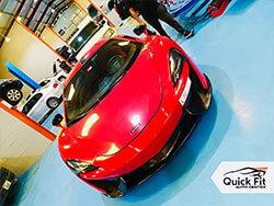 McLaren visited Quick FIt for Minor Service