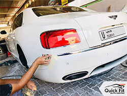 Fixing Small Scratches On Bentley And Repainting at Quick Fit
