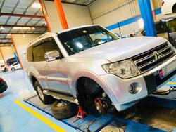 Mitsubishi Pajero Suspension Check and Power Steering Oil Service Done