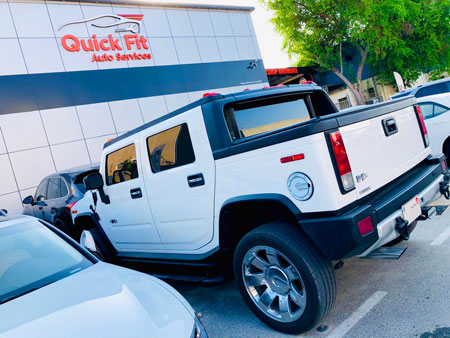 Hummer h3 Visited for Autobody and Steering Service