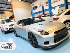 Nissan GTR Getting Steering Service at Quick Fit