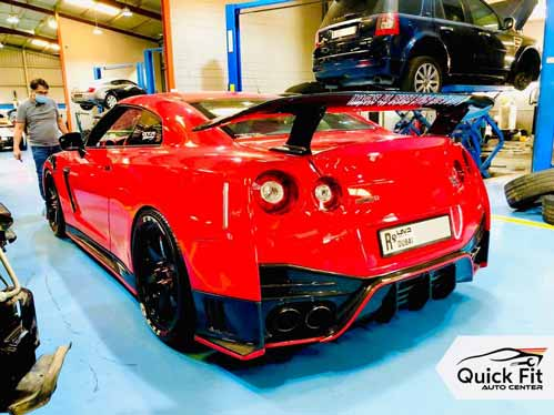 Red GTR is ready for Free Computerized Inspection