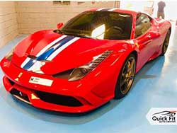 Ferrari Inspection and Service at Quick Fit Auto Center