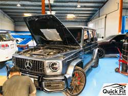 Mercedes G 63 Getting Minor Service at Quick Fit Auto Center