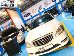 Mercedes Quick Inspection is going on at Quick Fit