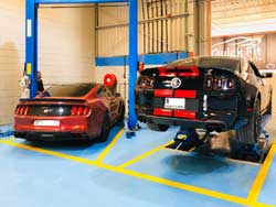 Ford Brakes Service going on at Quick Fit Auto Center