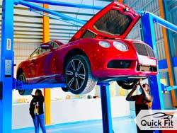 Bentley Continental GT Getting Minor Service At Quick Fit Auto Services Abu Dhabi!