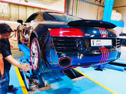 Audi visited for AlloyGator Installation and Suspension Service