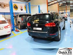Volkswagen is ready after complete upholestry service